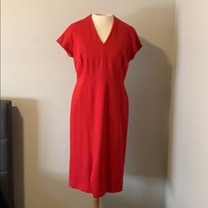 Classiques enrier red size 10 zipper back dress